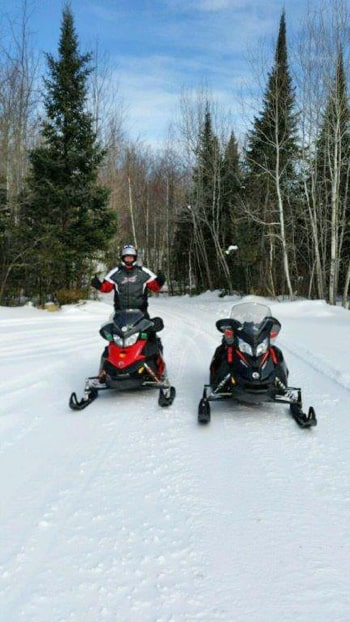 Sunny Day Snowmobiling
