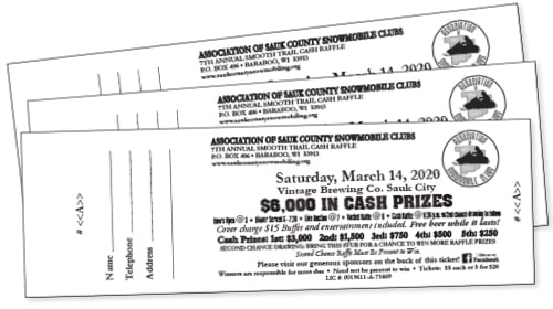 cash raffle tickets